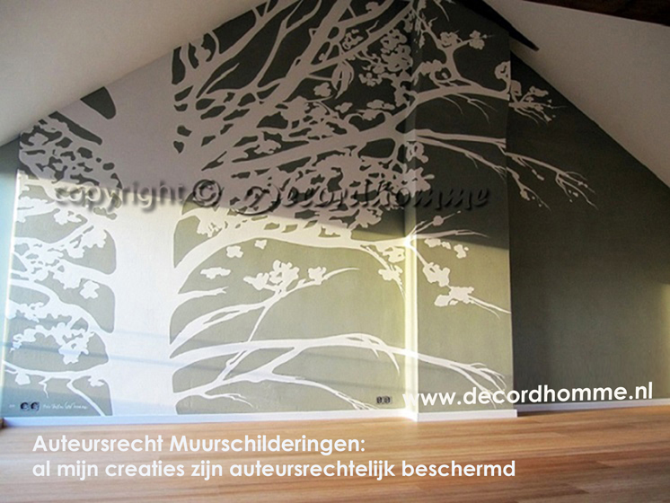 DECORDHOMME Muurschilderingen Design Decoratieve Abstracte ...